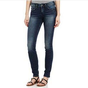 Silver Jeans Dark Wash Stevie Flap Skinny Jean